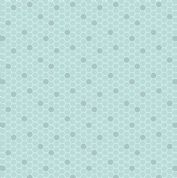 Lewis & Irene - Bee Kind - 5780 - Honeycomb Print in Pale Aqua  - A282.1 - Cotton Fabric